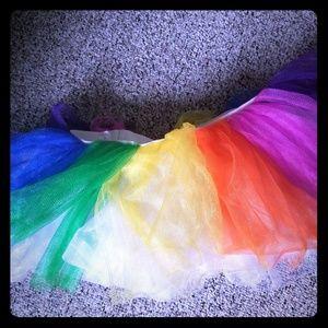 Rainbow/multicolored tutu with elastic waistband